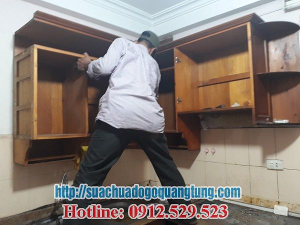 tháo lắp sửa chữa tủ bếp