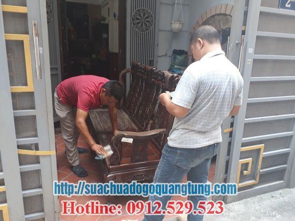 thợ sơn pu bàn ghế gỗ tại hà nội