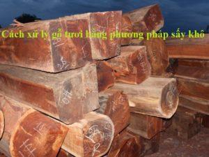Cách xử lý gỗ tươi bằng phương pháp sấy khô