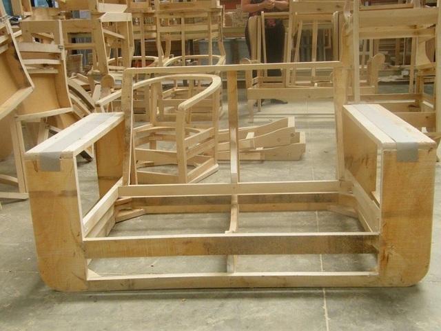 vật liệu làm ghế sofa - khung gỗ